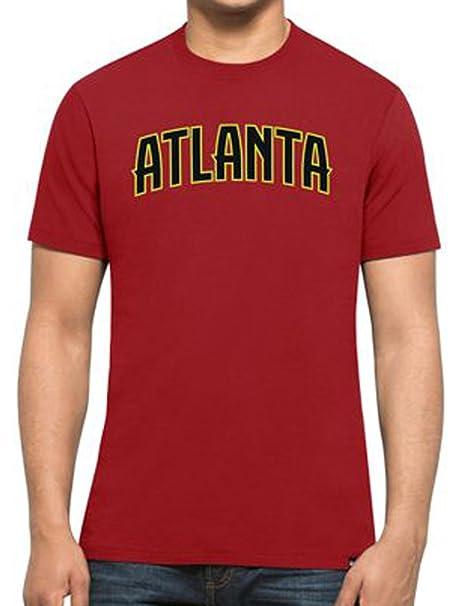 47 Forty Seven Brand Atlanta Hawks MVP Splitter Tee NBA T-Shirt Mens