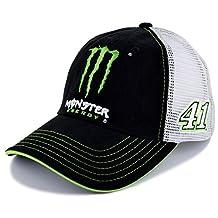Kurt Busch Monster Energy Mesh Back NASCAR Hat