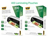 Fellowes 5743601 Thermal Laminating Pouches, Letter Size, 5 Mil, 2 x 200 Count