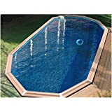 Waterclip, Myconos - Piscina in legno decagonale, 955 x 477 x 147 cm, fuori terra