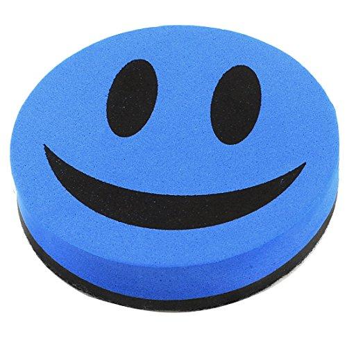 Uxcell Magnetic Smile Face Design Whiteboard Eraser/Cleaner, Blue Black