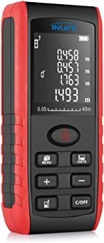 InLife Backlit LCD 40M Digital Laser Measuring Device