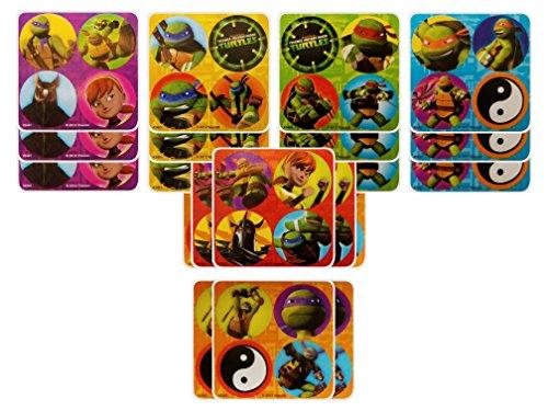 Teenage Mutant Ninja Turtles TMNT Party Favors - 18 sheets 72 Count -