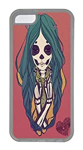 IMARTCASE iPhone 5C Case, Skeleton Girl Case for Apple iPhone 5C hard - White