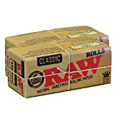 RAW Classic Natural Unrefined Rolling Paper Rolls 3 Meter Roll (2 Rolls)