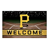 Fanmats 21930 Team Color Crumb Rubber Pittsburgh Pirates Door Mat, 1 Pack