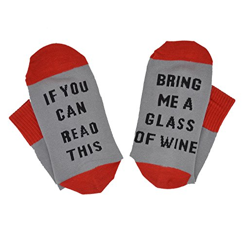 Cotton Socks-IF You Can Read This PLEASE Bring Me Some Wine (Red Wine Socks)