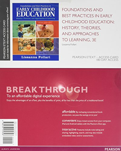 Foundations and Best Practices in Early Childhood Education: History, Theories, and Approaches to Learning, Enhanced Pearson eText -- Access Card (3rd Edition) - Highlights Look And Find