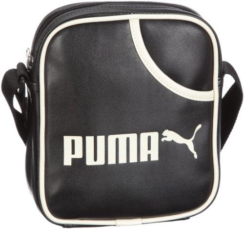 Puma Campus Portable - Bolso de gimnasia, talla única Negro / Blanco