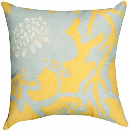 Manual Climaweave Indoor/Outdoor Square Decorative Throw Pillow, 18-Inch, Golden Rod