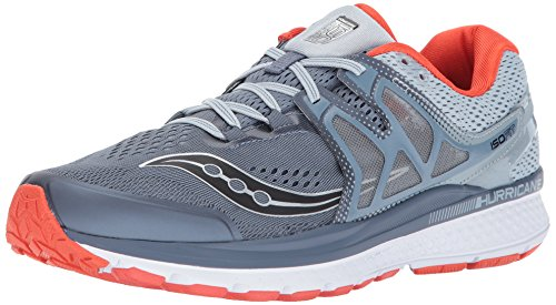 Saucony Men's Hurricane ISO 3 Running-Shoes, Blue Red, 9 D(M) US (Hurricane Red)