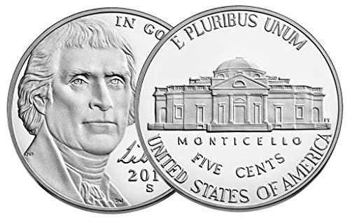 (2019 S Jefferson Nickel 40-2019 S 5C Jefferson Nickel Proofs Roll of 40 Proof)