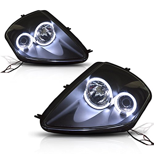 AUTOSAVER88 For 01 02 03 04 05 Mitsubishi Eclipse Headlight Assembly,Halo LED Projector Headlamp,Black housing,One-Year Limited Warranty(Driver and Passenger Side)