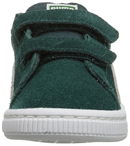 Puma Kids Suede Sneaker With Hook-and-Loop Straps Ponderosa Pine/Birch