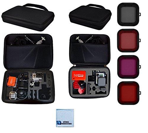 Premium Custom Large + Medium Case + Filter Kit For GoPro Hero3+, GoPro Hero4, HERO5 Cameras