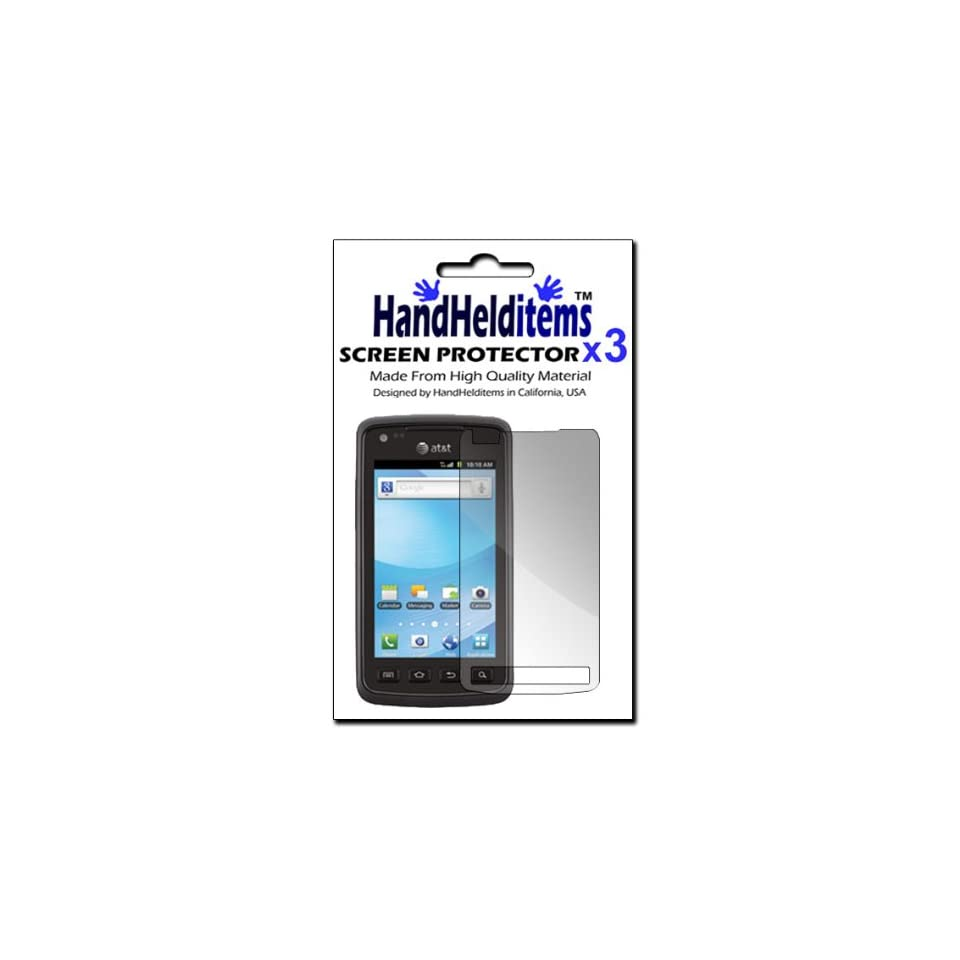 HHI Samsung SGH i847 Rugby Smart Anti Fingerprint, Anti Glare, Matte Finished Screen Protector (3 Pack) (Package include a HandHelditems Sketch Stylus Pen)