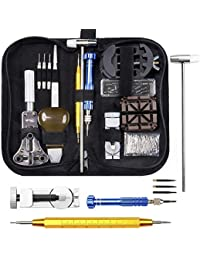 Watch Repair Kit, Electrapick Professional Spring Bar Tool Set, Watch Battery Replacement Tool Kit Watch Band Link Pin Removal Tool Set