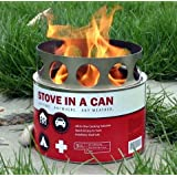 Stove In A Can - Portable Outdoor Camp / Cooking Kit - Perfect for Camping, Backpacking, Hunting, Tailgating, Emergency Survival, Food Storage