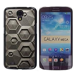 Paccase / SLIM PC / Aliminium Casa Carcasa Funda Case Cover - Chalk Macroscopic Microscope - Samsung Galaxy Mega 6.3 I9200 SGH-i527