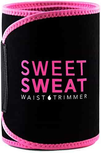 Sports Research Sweet Sweat Premium Waist Trimmer, for Men & Women ~ Includes Free Breathable Carrying Case!