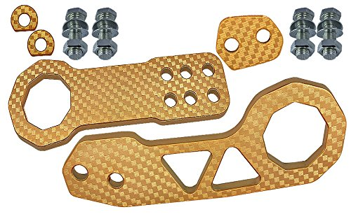 JDM 1SET Front & Rear universal Bumper TOW HOOK GOLD CNC Kit Hot Rate MDN (Rear Bumper For 2014 Gmc Sierra compare prices)