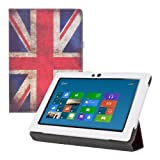 kwmobile? Chic leather for the Lenovo IdeaTab S6000 with convenient stand function and Retro flag design (England) by KW-Commerce