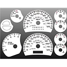 2003-2007 Chevrolet Silverado Truck GAS White Face Gauges