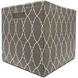 Better Homes and Gardens Collapsible Fabric Storage Cube - Taupe Trellis