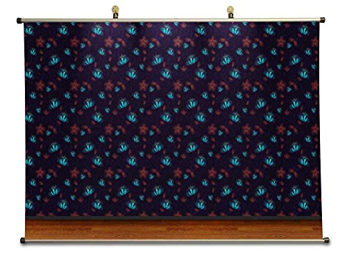 Midnight Flowers - Canvas Wall Scroll Poster (60x80 cm)