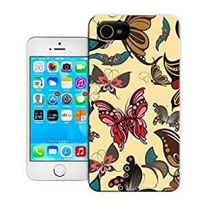 THYde Unique Phone Case Butterfly Pattern Hard Cover for iPhone 4/4s cases-buythecase ending