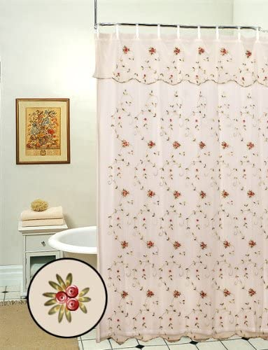 Amazon.com: Creative Linens Embroidered Lace Roses Floral Shower