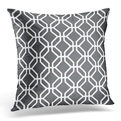 Sdamase Throw Pillow Cover Abstract Pattern Modern Stylish Geometric Tiles with Octagons and Rhombuses Endless Decorative Pillow Case Home Decor Pillowcase 18