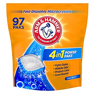 Arm & Hammer 4in1 Laundry Detergent Power Paks, 97 Count (Packaging May Vary)