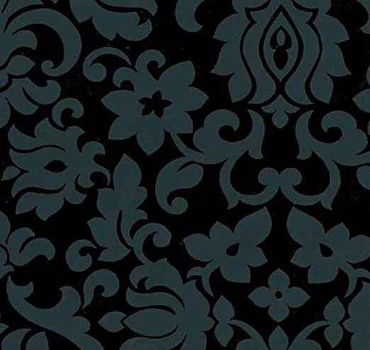 45 cm x 200 cm Selbstklebefolie Klebefolie Möbelfolie Ornamente Schwarz Weiss