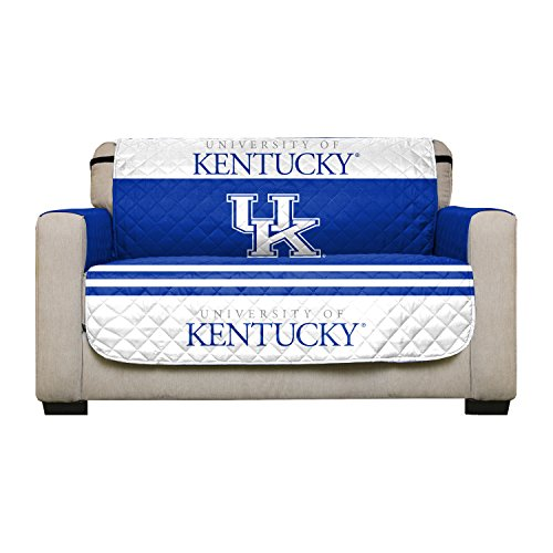 Reversible Couch Cover - College Team Sofa Slipcover Set / Furniture Protector - NCAA Officially Licensed (Love Seat, University of Kentucky Wildcats (UK)) -