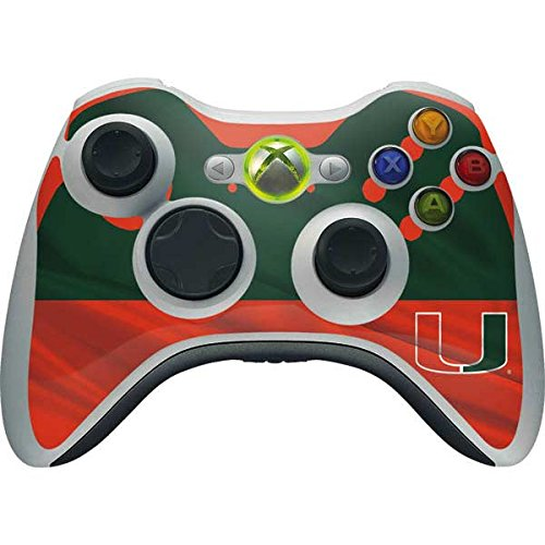 University of Miami Xbox 360 Wireless Controller Skin - Miami Hurricanes Print Vinyl Decal Skin For Your Xbox 360 Wireless Controller by Skinit