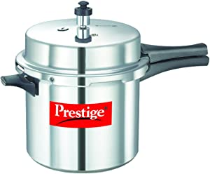 Prestige Popular Pressure Cooker, 6 Liter, Silver