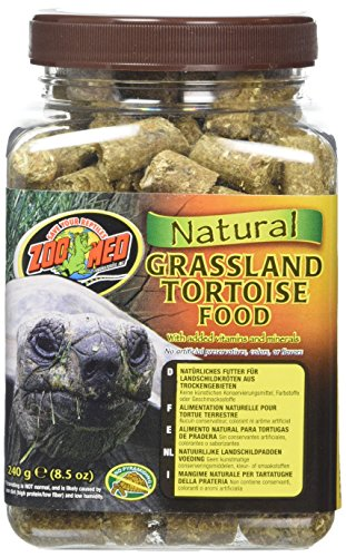 Zoo Med Natural Grassland Tortoise Food, 8.5-Ounce (Tortoise Natural)