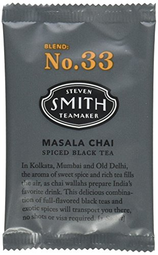Smith Teamaker Masala Chai Blend No. 33 (Full Leaf Black Tea), 1.8 oz, 15 Bags