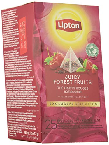 Lipton Seleccion Exclusiva Te Negro Frutos Del Bosque - 6 Cajas Con 25 Piramides