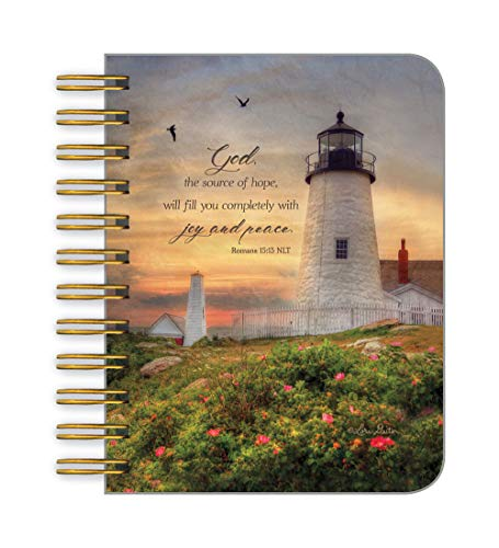 (Legacy Publishing Little Spiral Notebook, 3.5 x 4.2-Inches, Golden Lighthouse )