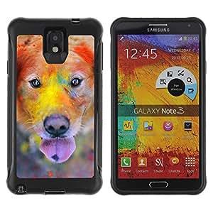 Suave TPU GEL Carcasa Funda Silicona Blando Estuche Caso de protección (para) Samsung Note 3 / CECELL Phone case / / Labrador Retriever Golden Dog Colorful /