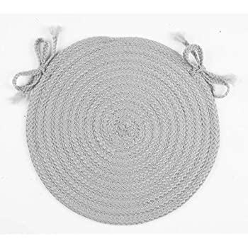 Amazon Com Spring Meadow Round Braided Chair Pad Set Of