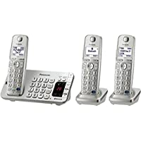 Panasonic Link2Cell Bluetooth (KX-TGE273S)  3 Handsets - Corldess Phone with Large Keypad, Silver