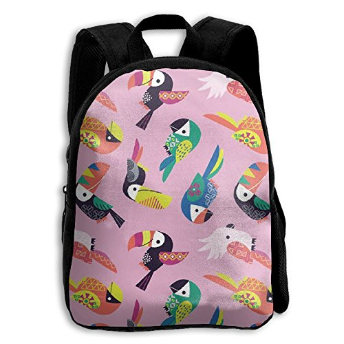 Price comparison product image Coloful Cute Toco Toucan Kid Boys Girls Toddler Pre School Backpack Bags Lightweight