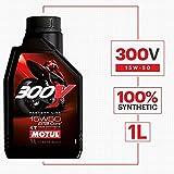 Motul 104125 Oil 300V Road Racing Synthetic 15W50 1 liter 1 Pack