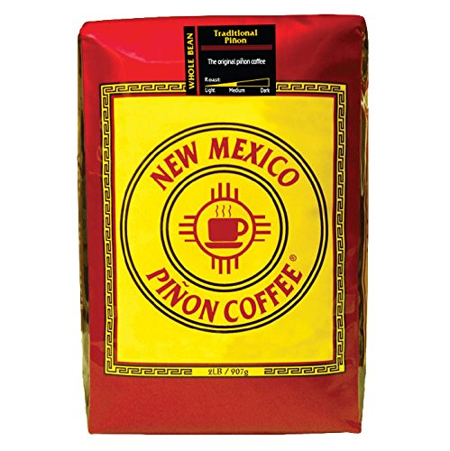 New Mexico Piñon Coffee Traditional Piñon, Whole Bean, 2lb by New Mexico Pinon Coffee