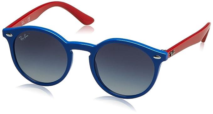 2b2c09ba27 Ray-Ban Junior 9064s Occhiali da Sole, Blu Grey Gradient Blue, 44 Unisex