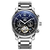 Automatic mechanical watches/Steel with stylish waterproof watch/Versatile mens watch-A