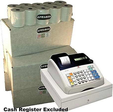 EPOSBITS® Brand 100 rollos de recibos – 5 cajas para Olivetti ECR 7100 ECR7100 Cash Register: Amazon.es: Oficina y papelería
